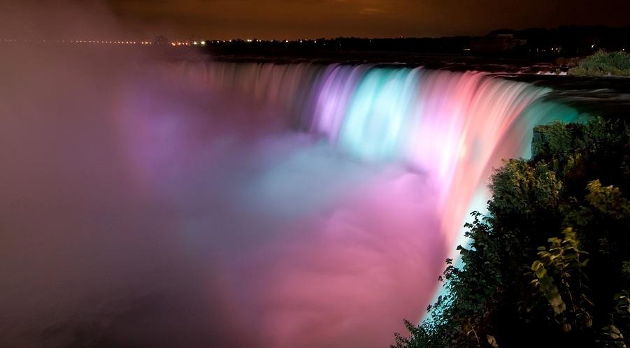 Niagarafaelle bei Nacht