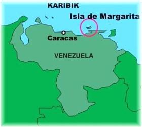 Mapa Isla de Margarita