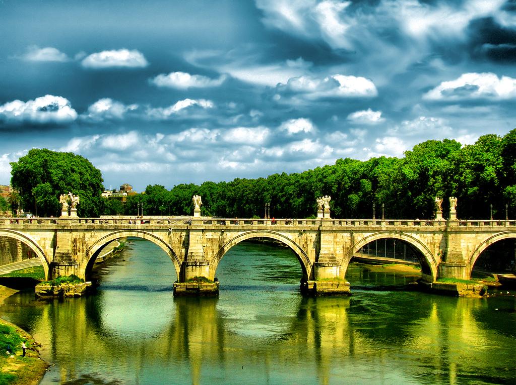 Brücke beim Tevere